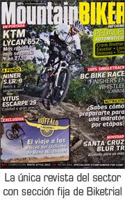 Revista Mountain Biker con secci�n fija de Trial y Biketrial