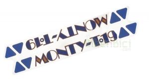 Calcas Trialsin MONTY T-17 / T-19 aero principal - Calca principal r�plica de la Monty T-17 / T-19 aero que va colocada en la barra principal del chasis. Es la calca distintiva del modelo.