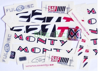 Calcas Biketrial Trial MONTY 221 Ti 2006 - Conjunto de calcas de la Monty 221 Ti del a�o 2006 de Biketrial Trial. Conjunto completo con todas las calcas necesarias.