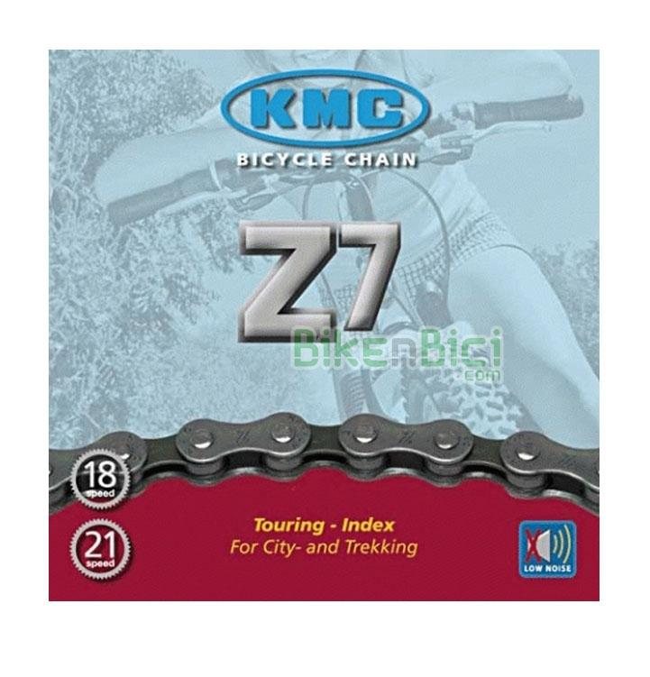 Cadenas Trial KMC Z7 Biketrial 116 links   - Cadena para bicicletas de City y Trekking de 6/7 velocidades. Compatible con las bicicletas de Trial de todo tipo. 116 pasos. Acabado niquelado. Diseño para alta resistencia.
