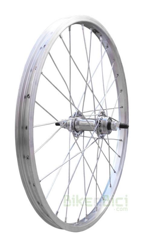 Ruedas Trial TRIALSIN CLÁSICA 20 PULGADAS trasera rosca - Rueda trasera para bicicletas clásicas de Trialsin de 20 pulgadas. Buje de acero y llanta de aluminio Mach1. 28 radios de acero. Cabecillas de acero. Medida de 20
