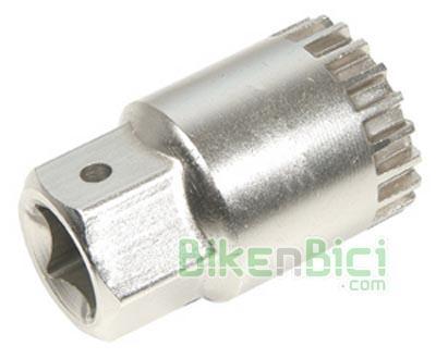Herramientas Bicicleta Extractor pedalier cartucho ISIS - Herramienta para montar/desmontar pedalieres ISIS tipo cartucho. Puede utlizarse tanto con llaves fijas abiertas como con llaves de carraca de 1/2