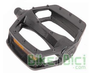 Pedales plataforma aluminio Biketrial Trial BMX Free Dirt - Pedales de plataforma de aluminio para Biketrial, Trial, BMX, Free y Dirt. Modelo monobloc en color negro. Dos medidas de rosca.