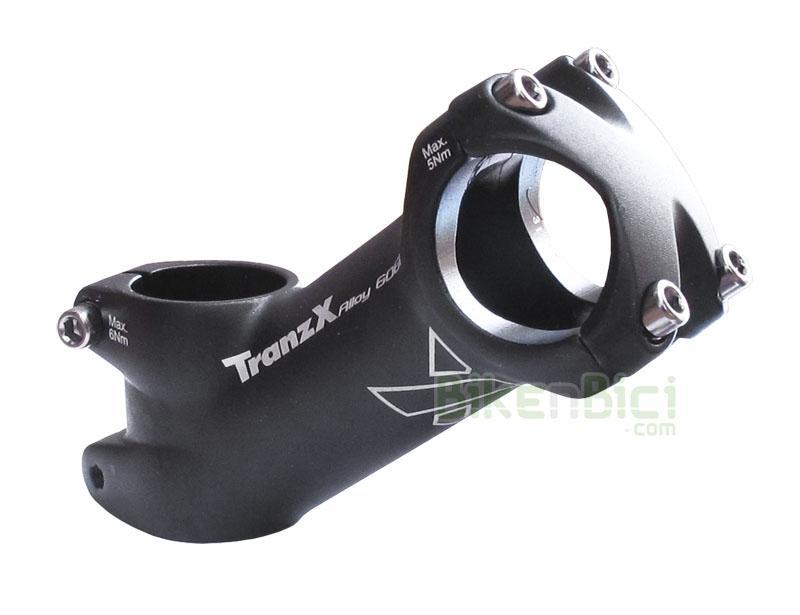 Potencias Trial TRANZX 3D FORGED Aluminio Biketrial 90mm 35º manillar 31.8mm - Potencia TranzX fabricada en aluminio 6061-T6 y 3D forged. Para horquillas de 1-1/8