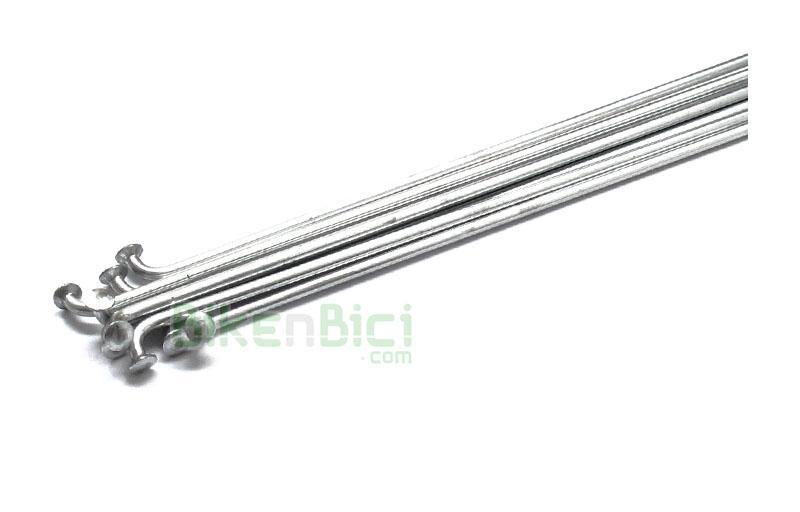 Radios Trial BIKENBICI Biketrial plata (precio por unidad) - Radios en acero plateados de diferentes medidas. Medidas para ruedas de Biketrial y Trial, tanto para llantas de 19