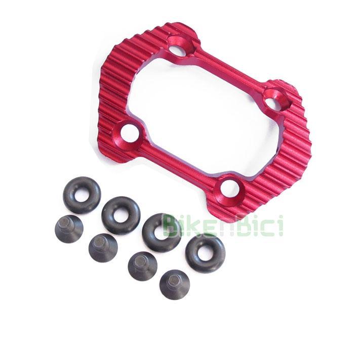 Protector piñón Trial BONZ ULTRALIGHT Biketrial - Protector original de la marca Bonz, modelo ultralight 2016, para los modelos de Ozonys Curve V4/V5/V6/V7/Roxxor, Play KIII y Clean X1 de 20 pulgadas. Incluye tornillería y gomas espaciadoras. Fabricado en aluminio y anodizado en color rojo. Su peso es de 42 gramos (tornillos y arandelas incluidos).