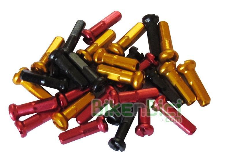 Cabecillas Trial ALUMINIO 16G Biketrial (precio por unidad) - Cabecillas de radio 16G sobredimensionadas para radios de 2mm. Fabricados en aluminio para bicicletas de Biketrial y Trial y disponibles en color rojo, negro, plata y dorado. Precio por unidad.