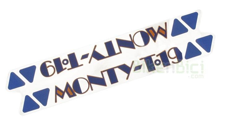 Calcas Trialsin MONTY T-17 aero principal - Calca principal réplica de la Monty T-17 aero que va colocada en la barra principal del chasis. Es la calca distintiva del modelo.