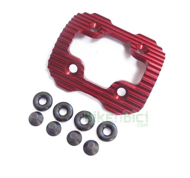 Protectores Trial CLEAN X1 OZONYS CURVE V4/V5/V6/ROXXOR/ Biketrial - Protector original de la marca Bonz para los modelos de Ozonys Curve V4/V5/V6 y Roxxor y Clean X1 de 20 pulgadas. Incluye tornillería y gomas espaciadoras. Fabricado en aluminio y anodizado en color rojo. Su peso es de 64 gramos (tornillos y arandelas incluídos).