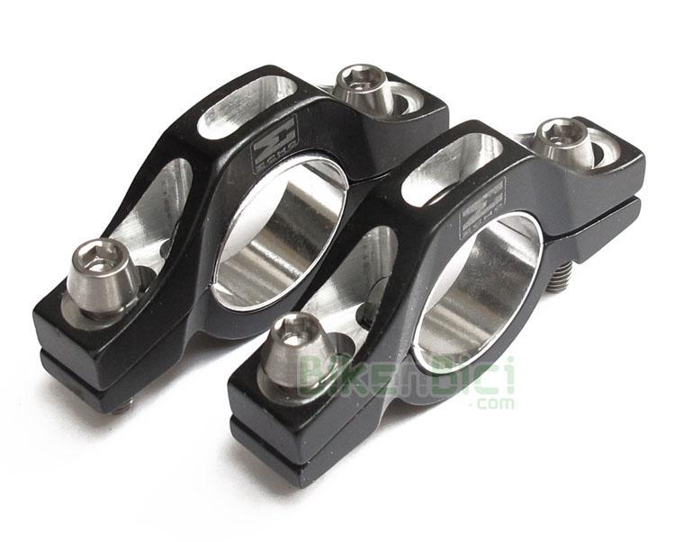 Frenos Trial SOPORTES ECHO SL BOMBÍN Biketrial - Soportes para bombines de freno de llanta de la marca Echo, gama SL. Modelo diseñado para ofrecer las máximas prestaciones en cualquier situación de frenada. Fabricado en aluminio 7075-T6 de alta calidad y mecanizado en CNC. Base del bombín curva con semi lunas de ajuste metálicas. Diseño optimizado para conseguir las máxima ligereza. 35 gramos de peso (la pareja + 12 gramos tornillería de titanio).