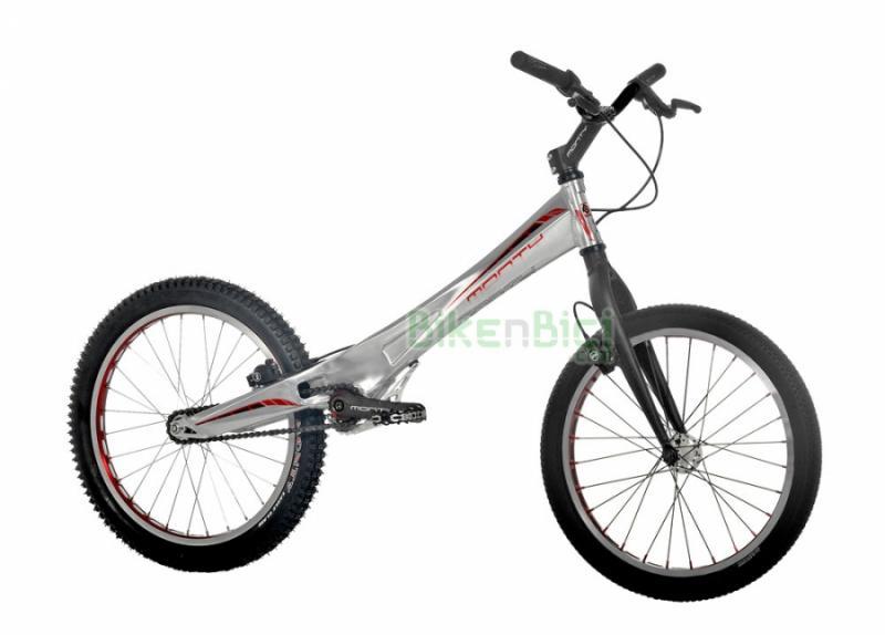 Bicicletas Trial MONTY 209K Biketrial infantil frenos hidráulicos - La Monty 209K de Trial es la bicicleta de Biketrial infantil perfecta para conseguir los mejores resultados. Su chasis monocasco de aluminio 6061, su horquilla especial y sus frenos hidráulicos Magura HS33 la hacen una bici campeona. La Monty 209K es para niños y niñas de 7 a 12 años. Acabado en color plata. Peso: 7,900 kg.