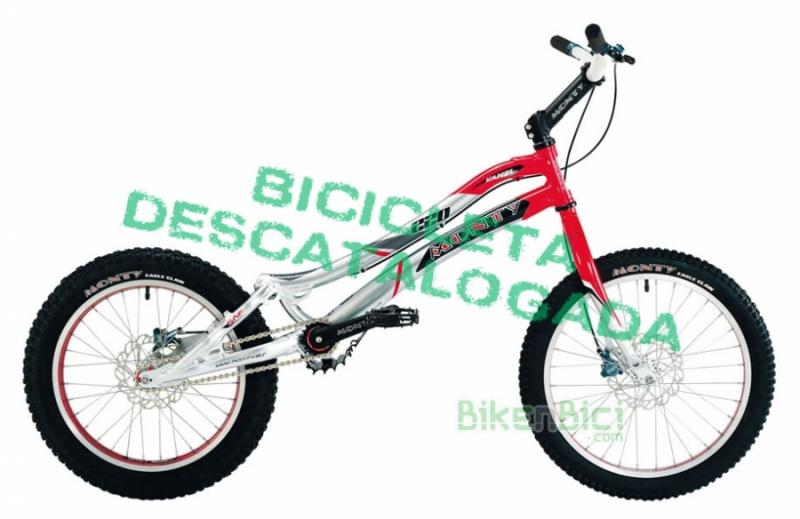 Bicycles Trial MONTY 220 KAMEL Biketrial disc brakes - Las bicicletas para Biketrial y Trial de Monty están pensadas para los pilotos más exigentes. Fabricadas con los mejores materiales del mercado, las bicicletas Monty de Biketrial y Trial son la mejor elección para los que necesitan una bicicleta para empezar o para la más alta competición. Las bicicletas Monty de Biketrial son sinónimo de calidad.