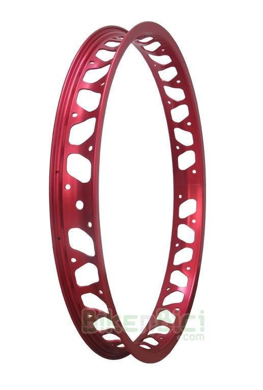 Llantas Biketrial Trial MONTY PRORACE trasera roja - Llanta trasera para Biketrial Trial Monty Pro Race ultraligera para rueda trasera. Anodizada en rojo. 19