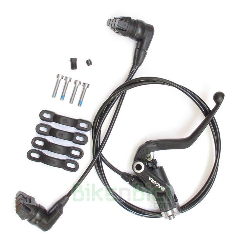 Frenos Biketrial Trial MAGURA HS33 2014 Delantero / Trasero - Conjunto freno delantero Magura HS33 2014 hidráulico. El freno hidráulico más potente del mercado con más de 25 años de experiencia. Frenada perfecta en cualquier circunstancia. Para bicicletas con soportes para freno hidráulico o V-Brake (necesario adaptador). Incluye todo lo necesario para montaje. Purgado y listo para usar. REVERSIBLE: sirve para freno trasero y delantero. Peso: 260 gramos.