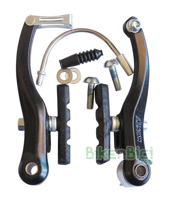 Frenos V-Brake Trial MONTY ESPECIAL 218 KAMEL TRASERO aluminio Biketrial - Conjunto de levas V-Brake Monty para el modelo 218 Kamel. Especialmente diseñados para poder montarse en bicicletas de Biketrial y Trial con rueda trasera ancha de 2.5/2.7. Fabricados en aluminio, incluyen todos los accesorios necesarios para poder instalarlo. Compatible con modelos antiguos Monty y otras marcas con rueda trasera ancha.