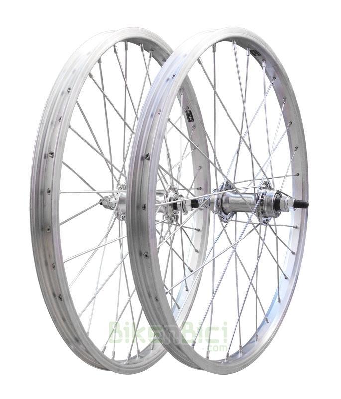 Ruedas Trial CONJUNTO TRIALSIN CLÁSICA 20 PULGADAS - Conjunto de ruedas para bicicletas clásicas de Trialsin de 20 pulgadas. Llantas de aluminio Mach1. 36 radios de acero. Cabecillas de acero. Medida de 20