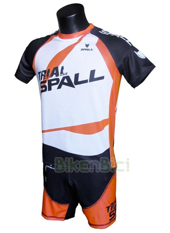 Equipación Trial SPALL TECHNIC ORANGE Biketrial - Conjunto de camiseta y pantalón técnicos de la marca Spall. Modelo