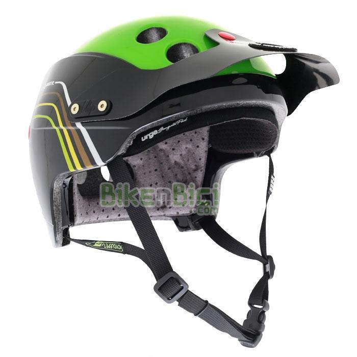 Cascos Trial URGE ENDUR-O-MATIC AIRLINE VERT Biketrial 2014 - El casco para Biketrial y Trial Urge Endur-O-Matic se inspira en los Downhill y Enduro y se caracteriza por una óptima superficie de protección con tecnología