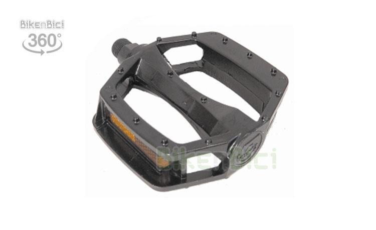 PEDALES PLATAFORMA ALUMINIO - Pedales de plataforma de aluminio para Biketrial, Trial, BMX, Free y Dirt. Modelo monobloc en color negro. Dos medidas de rosca.