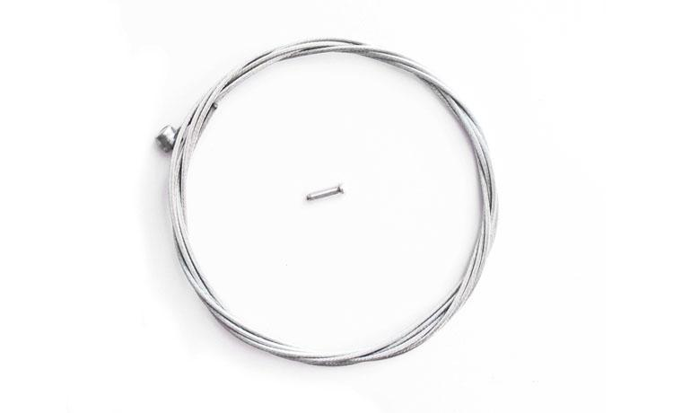 BRAKE WIRE BIKENBICI BARREL SHAPED 1800mm - Brake wire with final in barrel shape for V-Brake levers and compatibles. Long of 1800mm. For front and rear brake. Includes hose pin to clinch the hose end.