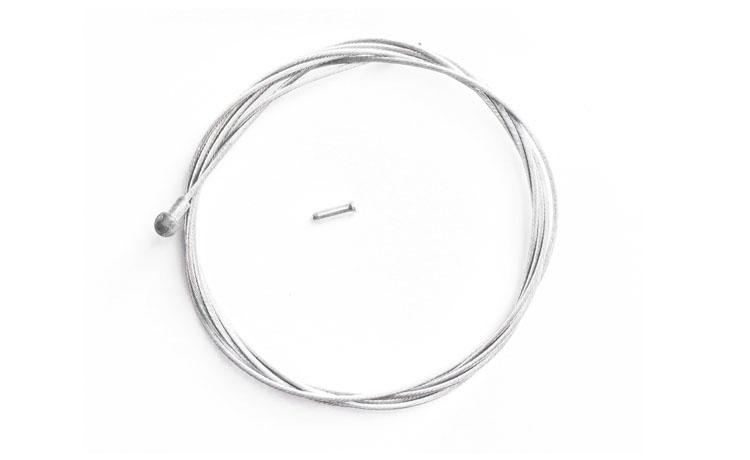 BRAKE WIRE BIKENBICI PEAR SHAPED 1800mm - Brake wire with final in pear form for BH or similar or brake levers. Long of 1800mm. For front and rear brake. Includes hose pin to clinch the hose end.