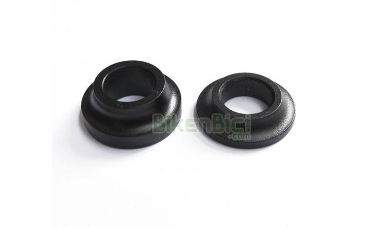 Bujes Trial ESPACIADOR BUJE 8mm negro - Espaciador para bujes con eje de 10mm de diámetro. Grosor 8mm. Fabricado en aluminio y acabado en color negro. Peso 4 gramos (8mm).