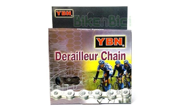 Cadenas Trial YBN S20 112L Biketrial - Cadena para bicicletas de Trial de la marca YBN. Tecnología Bushing Less para una transmisión suave y reduciendo el nivel de ruido. 112 eslabones incluyendo el cierre rápido. Fabricada en acero y estructura reforzada. Peso de 245 gramos.