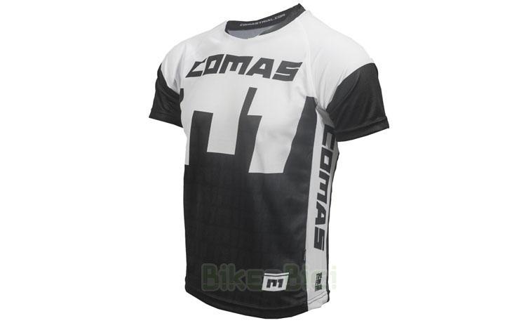 Camisetas Trial COMAS MANGA CORTA NEGRA BLANCA Biketrial