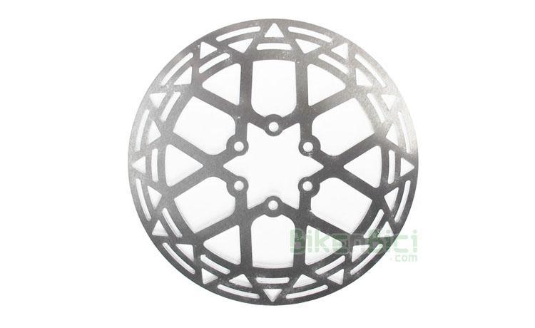 Frenos Trial DISCO CLEAN ALUMINIO 162mm Biketrial - Disco de freno de la marca Clean, modelo DE ALUMINIO. Especialmente indicado para frenada en condiciones de agua. Fabricado en aluminio y corte por láser. Diseñado y fabricado en España. 162mm de diámetro. 2mm de grosor. Para freno delantero y trasero. Sistema internacional de 6 tornillos (ISO). 56 gramos.