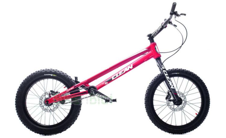BICICLETA TRIAL CLEAN X1 20 PULGADAS 1005mm FRENOS HOPE