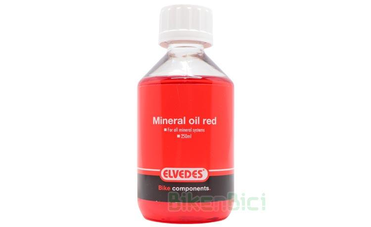 BOTELLA ACEITE MINERAL ELVEDES ROJO 250ml