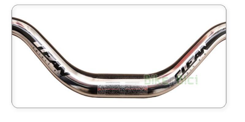 MANILLAR TRIAL CLEAN K1.2 CROMADO FIBRA DE CARBONO 107mm