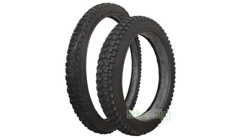 Neumáticos Trial MONTY 205K / KAMEL Biketrial pareja - Conjunto de neumáticos Monty para el modelo 205K y 205 Kamel. Delantero en medida 18
