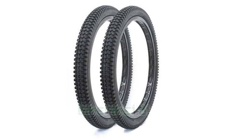 NEUMÁTICO TRIALSIN CLÁSICO 20 PULGADAS CONJUNTO - Pareja de neumáticos especial para clásicas del Trialsin. Réplica del neumático Pirelli ML14 en medidas 20