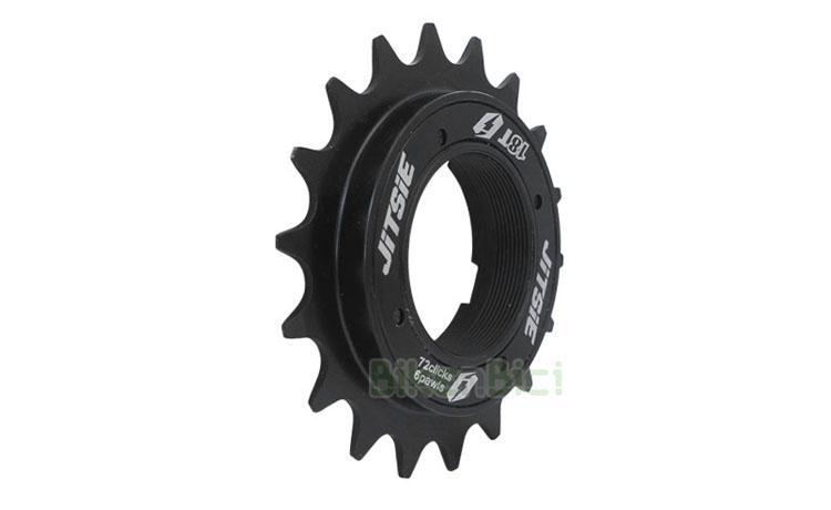 PIÑÓN JITSIE 72.6 6 GATILLOS - Piñón de la marca belga Jitsie, gama TRIAL, especialmente diseñado para bicicletas de Biketrial, Trial y BMX. Piñón de alta calidad. Fabricado en acero forjado y con 72 puntos internos de anclaje y 6 gatillos, para que nunca te quedes sin agarre. Disponible en 18 dientes (18T). Acabado negro y con logotipos Trial. 175 gramos.