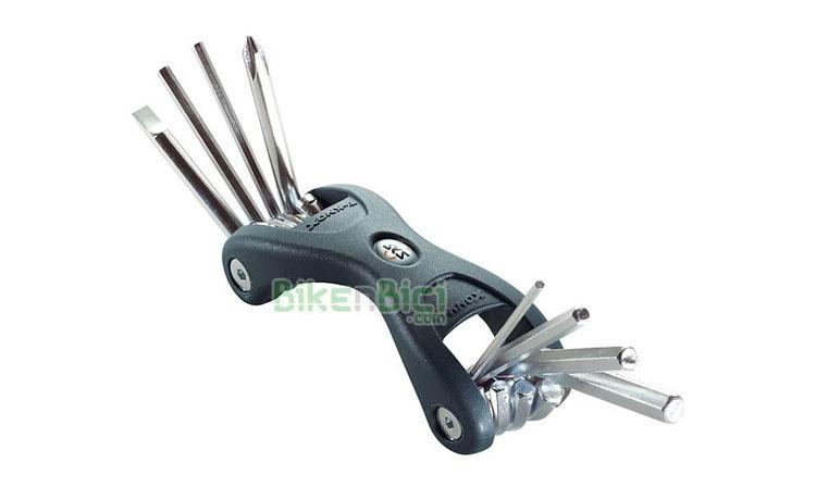 Herramientas Bicicleta LLAVES MiniTool SKS T-KNOX 8 funciones - Herramienta multiuso con 8 funciones. Dispone de todas las herramientas necesarias para reparaciones de urgencia en cualquier situación. Tanto para bicicletas de mountain bike como de ciclismo de carretera.