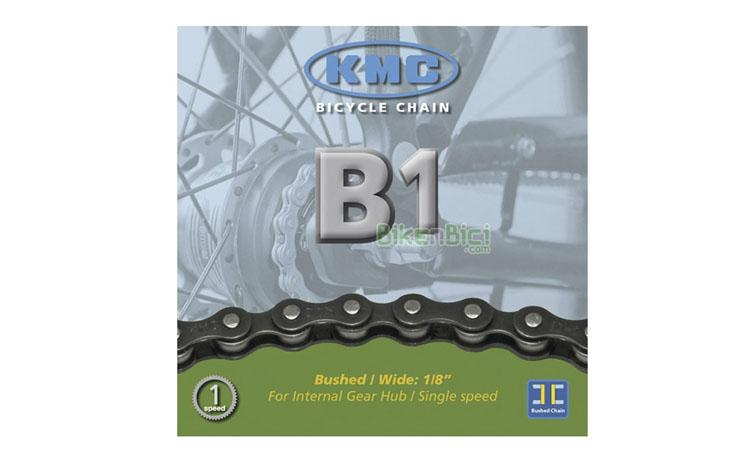 Cadenas Bicicleta KMC B1 112 links single speed - Cadena para bicicletas de 1 velocidad (single speed), fixing, bicicletas infantiles y bicicletas de cambio interno (buje). Ancho de 1/8