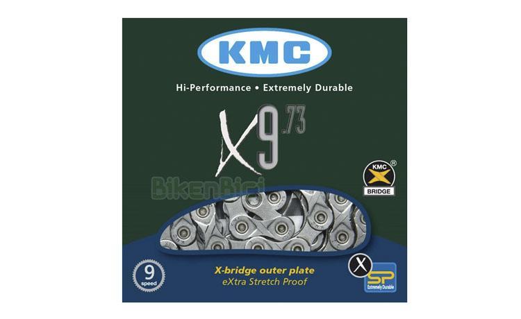 Cadena KMC X9-73 - Cadena KMC X9-73 para bicicletas de Trial y Biketrial. Medida de 3/32