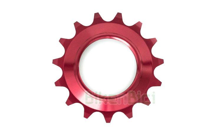 Piñón fijo Trial COMAS CENTRADO ALUMINIO 15 DIENTES Biketrial - Piñón fijo de la marca COMAS para bicicletas de Biketrial y Trial. Fabricado en aluminio 7075-T6 y mecanizado en CNC. Compatible con todos los bujes del mercado. Rosca 1,37