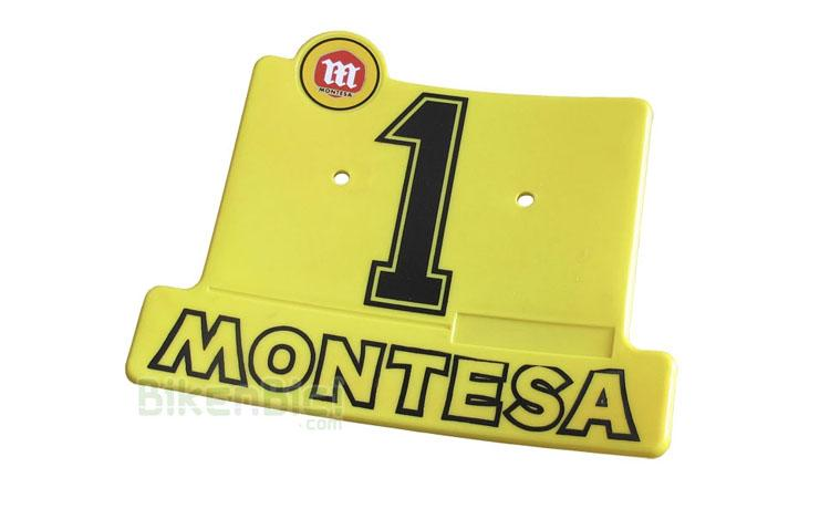 PLACA PORTA NUMEROS MONTESA TRIAL