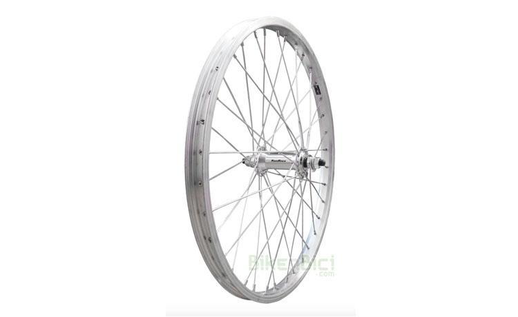 Ruedas Trial TRIALSIN CLÁSICA 20 PULGADAS delantera - Rueda delantera para bicicletas clásicas de Trialsin de 20 pulgadas. Buje Sunrace de aluminio y llanta de aluminio Mach1. 36 radios de acero. Cabecillas de acero. Medida de 20