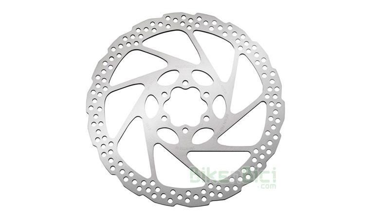 Frenos Trial DISCO SHIMANO SM-RT56 160mm Biketrial  - Disco de freno de la marca Shimano, modelo SM-RT56, compatible con todos los sistemas de freno del mercado. 160mm de diámetro. Sistema de fijación internacional mediante 6 tornillos. Incluye la tornillería necesaria para fijarlo en el buje. Peso de 136 gramos.