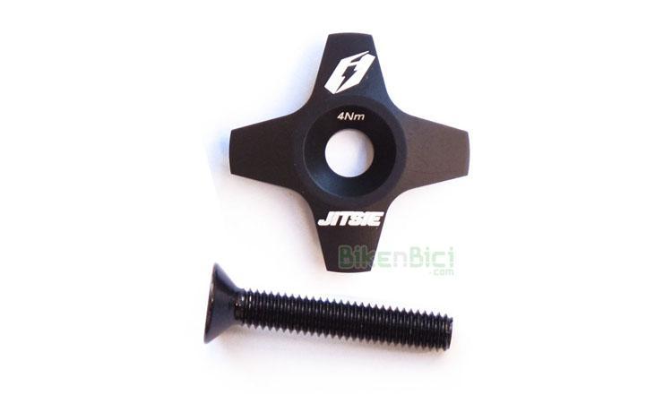 TAPA POTENCIA PLANA JITSIE RACE - Tapón de potencia de la marca Jitsie para potencias de 1-1/8